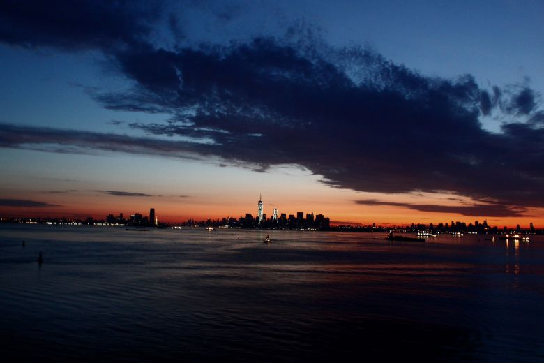 Newyork city skyline at dusk 2