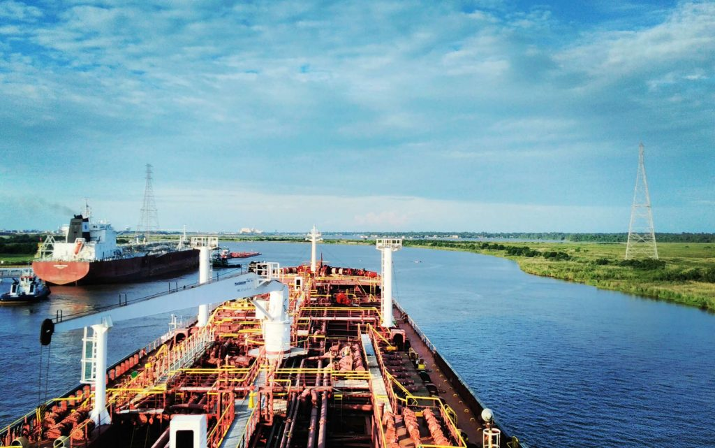 Crossing Calcasieu ship channel